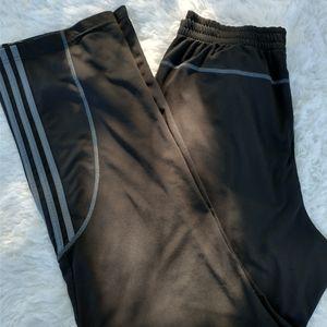 Adidas sweat pants drawstring elastic pockets lg